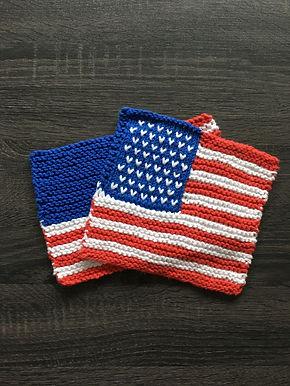 United States Flag Dishcloth