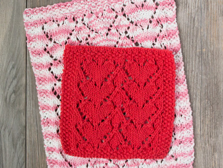 Lovely Heart Dishcloth: Yarn & Color Recommendations