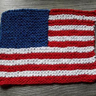 Option 3 (garter) knit by a test knitter