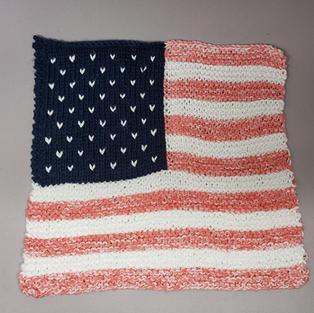 Option 2 (duplicate stitch) knit by Ravelry user pinkdolphi