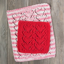 Lovely Heart Dishcloth