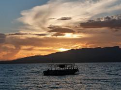 Dawn coming up over Viti Levu