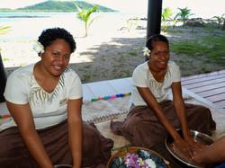 Foot massage at Nanuya Resort Spa