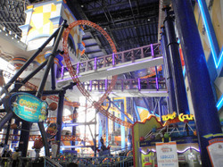 Shopping centre rollercoaster