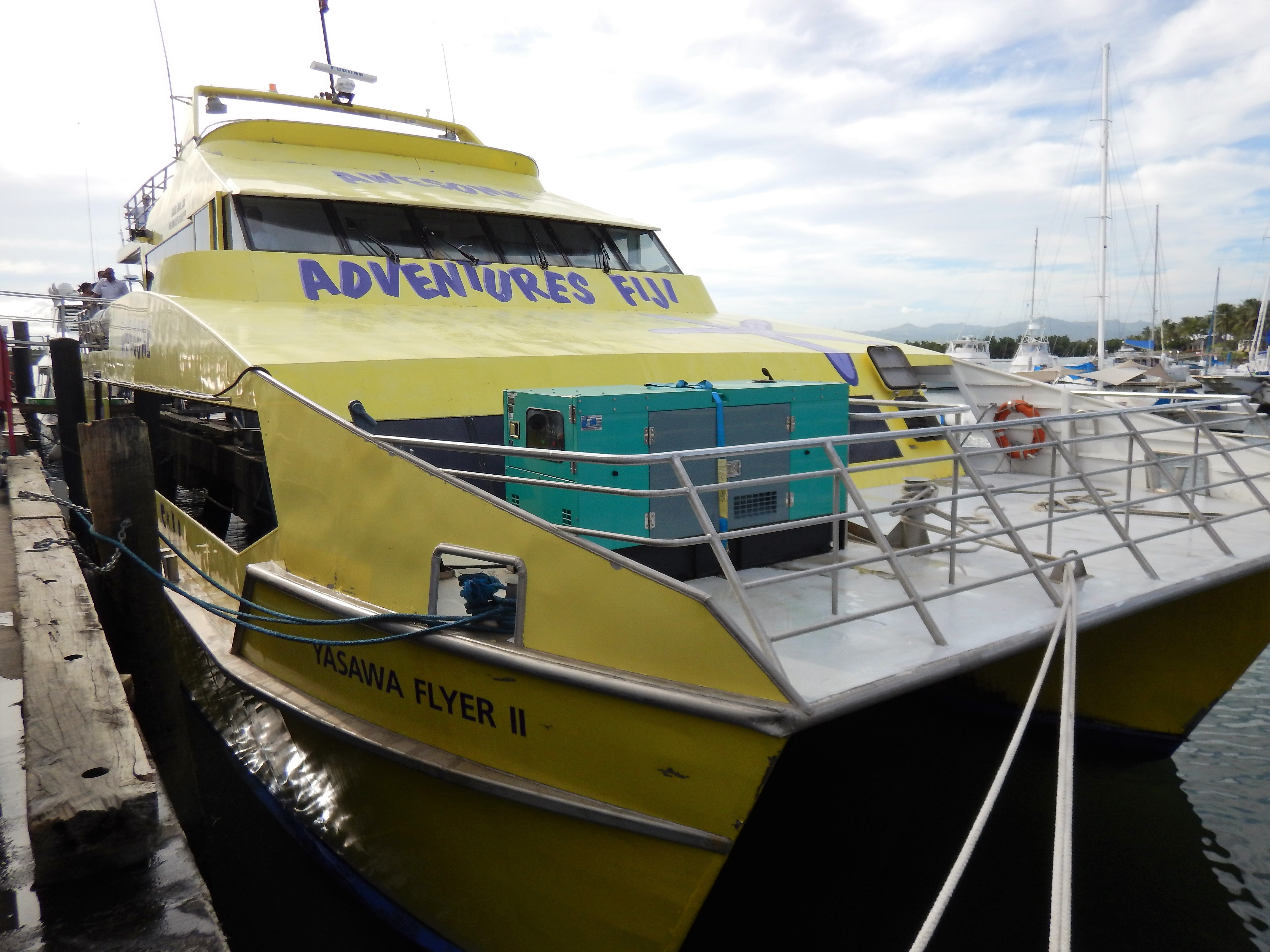 At dock in Port Denarau Marina