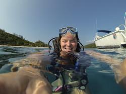 Dive with Ella in beautiful Fiji