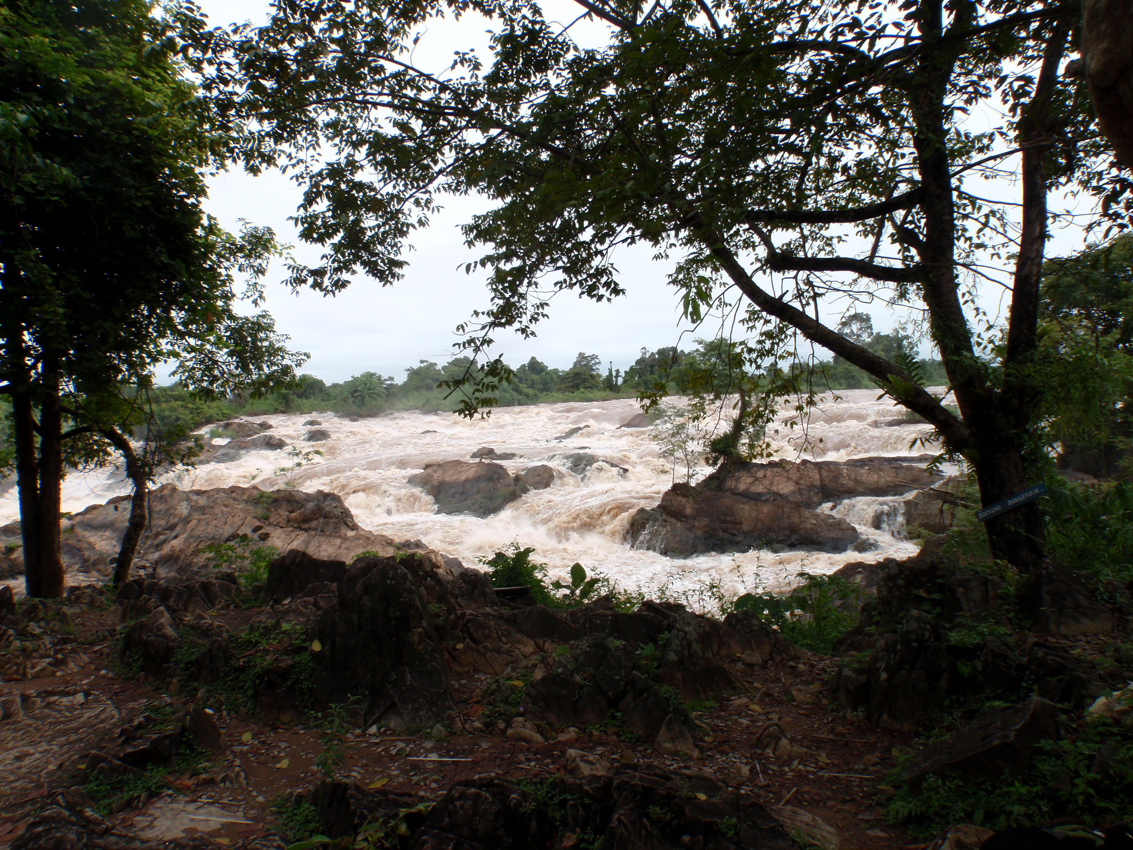 Raging torrent of the waterfall