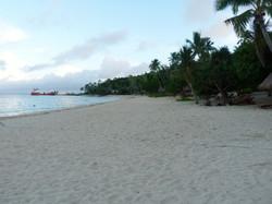 Groomed beach