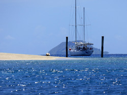 Sail away or stop for a while