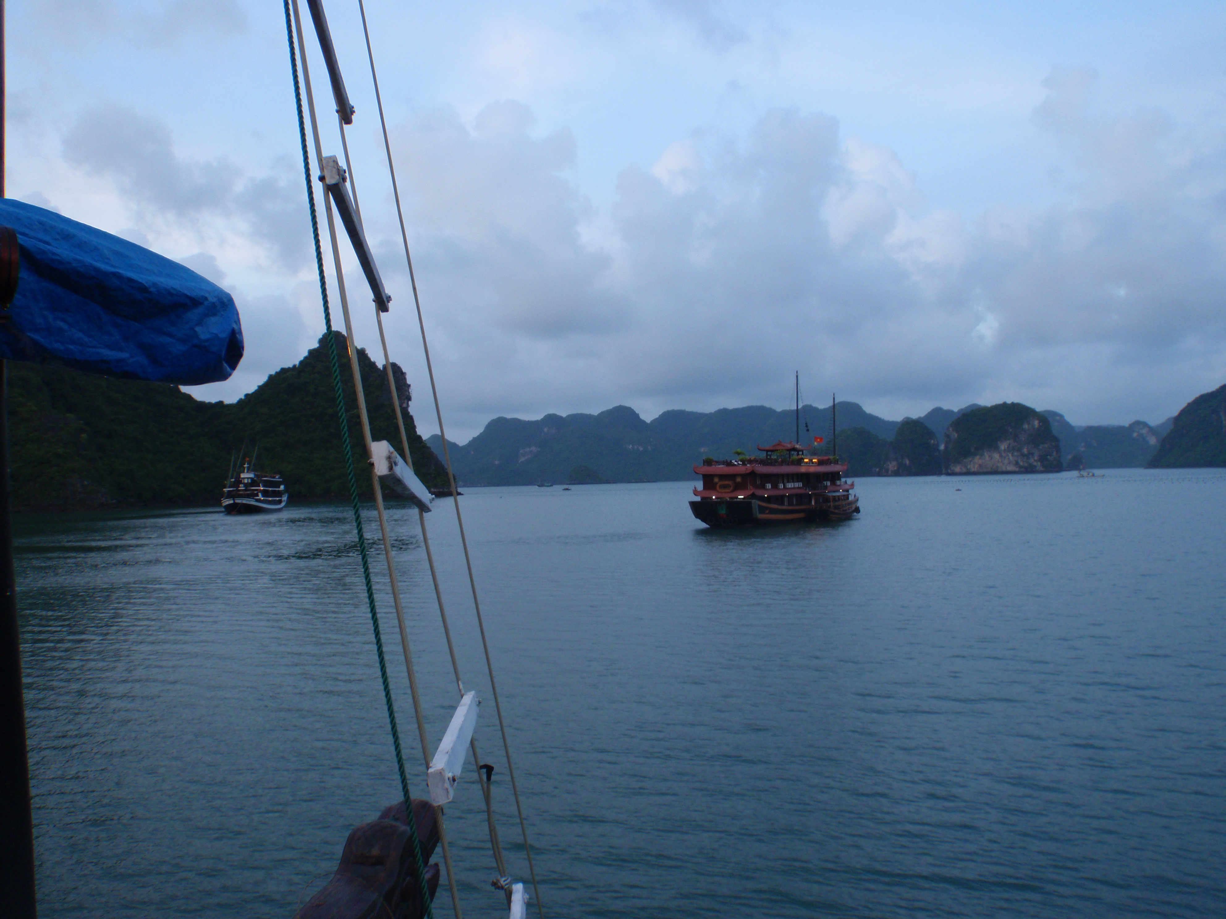 A procession of Junk boats