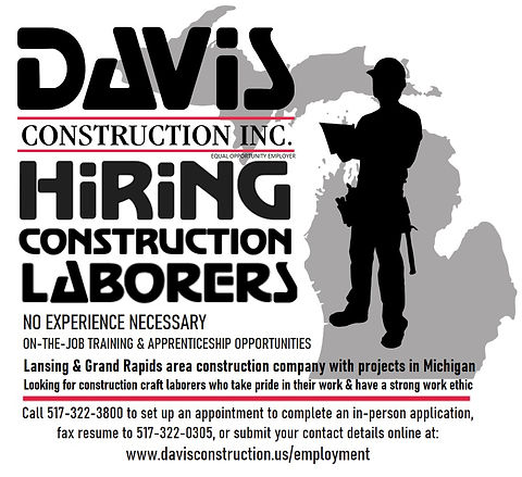 Hiring Construction Laborer Announcement