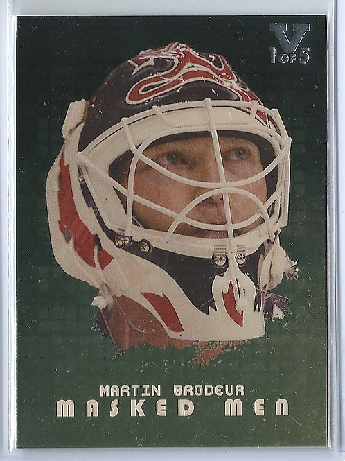 Martin Brodeur(1/5)  2008-09 Between The Pipes Masked Men Gold #MM20