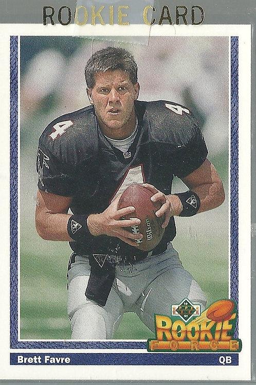 Brett Favre, Rookie, 1991 Upper Deck #647