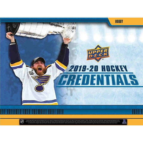 19-20 Upper Deck Credentials Hockey Single Box