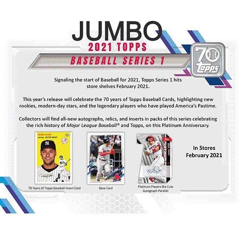 2021 Topps Series 1 Baseball JUMBO pack hobby single pack
