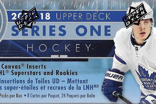 2017/18 UPPER DECK SERIES 1 HOCKEY TINS RETAIL