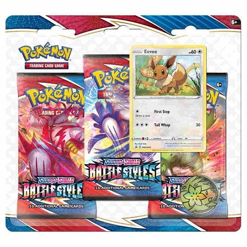 POKEMON TCG: SWORD AND SHIELD BATTLE STYLES THREE-BOOSTER BLISTER