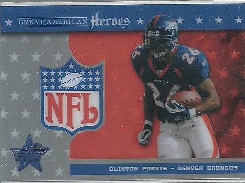 Clinton Portis, 2003 Leaf Rookies and Stars Great American Heroes #GA7