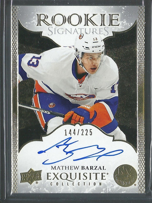 Mathew Barzal 2016-17 Exquisite Collection Rookie Signatures #ERSMB, 144/225