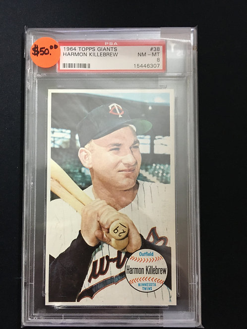 1964 Topps Giants #38 Harmon Killebrew (PSA 8)