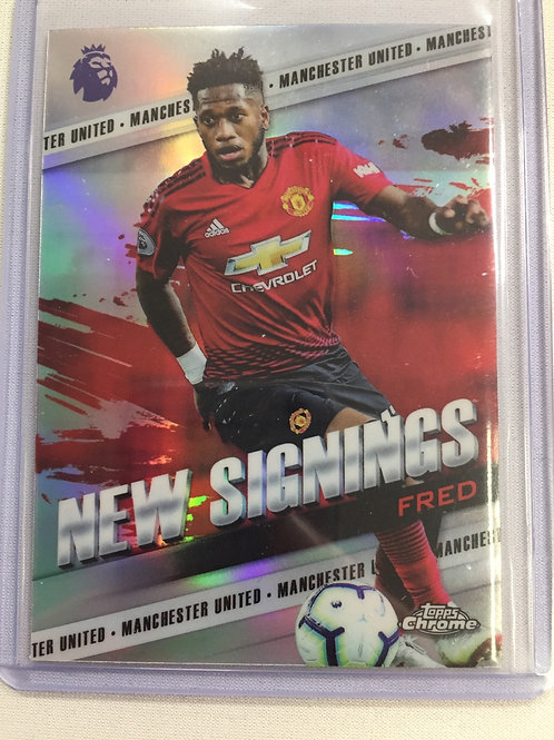 2018-19 Topps Chrome English Premier League New Signings Refractors #NSFR Fred
