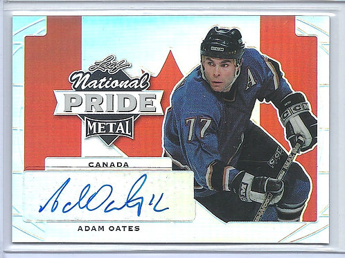 Adam Oates, Autographed, National Pride,