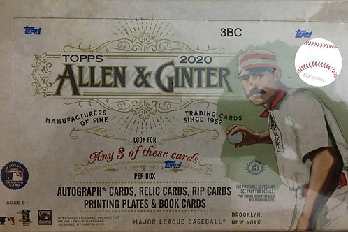 2020 TOPPS ALLEN & GINTER BASEBALL - HOBBY 1-BOX BREAK RANDOM TEAMS #9