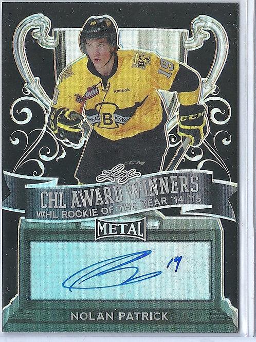 Nolan Patrick 1/5,autograph,Prismatic Black, (Flyers #1 Pick)