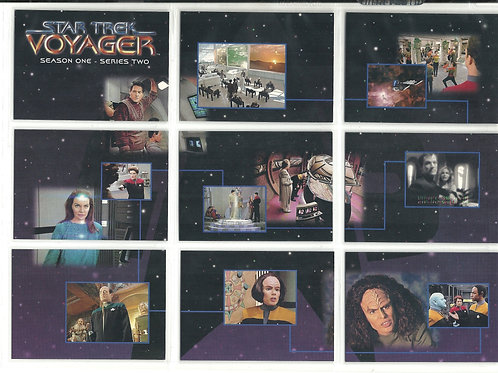 Star Trek: Voyager Complete set 1-90 plus 2 survey cards and more