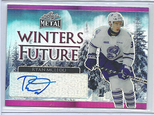Ryan McLeod, 5/7 Autographed, Pink, Winters Future, 2016-17