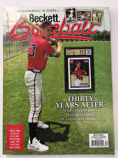 Beckett Baseball Magazine Vol:21, No. 3 March 2021