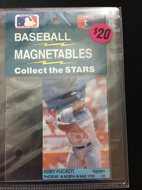 """1990 Baseball Magnetables """"Collect the Stars"""" (Kirby Puckett)"""