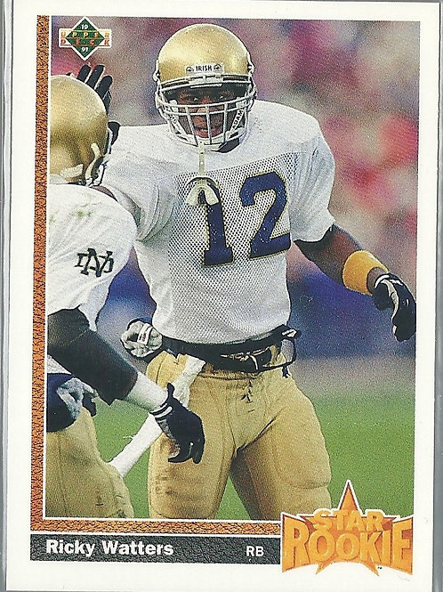 1991 Upper Deck #9 Ricky Watters RC