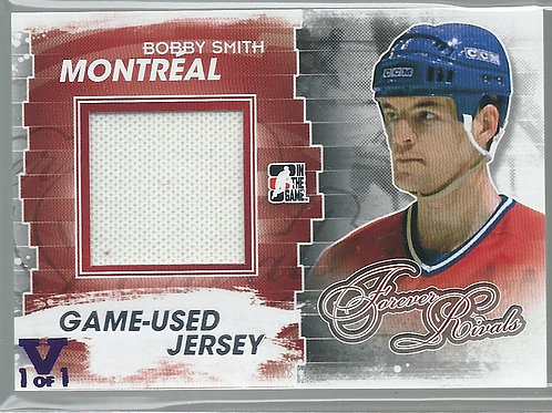 Bobby Smith (1/1) 2012-13 ITG Forever Rivals Game Used Jerseys Silver #M48
