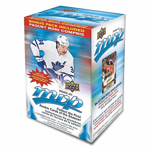 2020-21 Upper Deck MVP Hockey Factory Sealed 21 Packs, Blaster Box