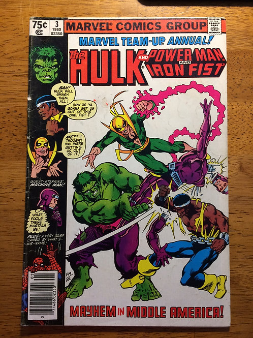 MARVEL TEAM UP ANNUAL #3 THE HULK & POWER MAN & IRON FIST 1980