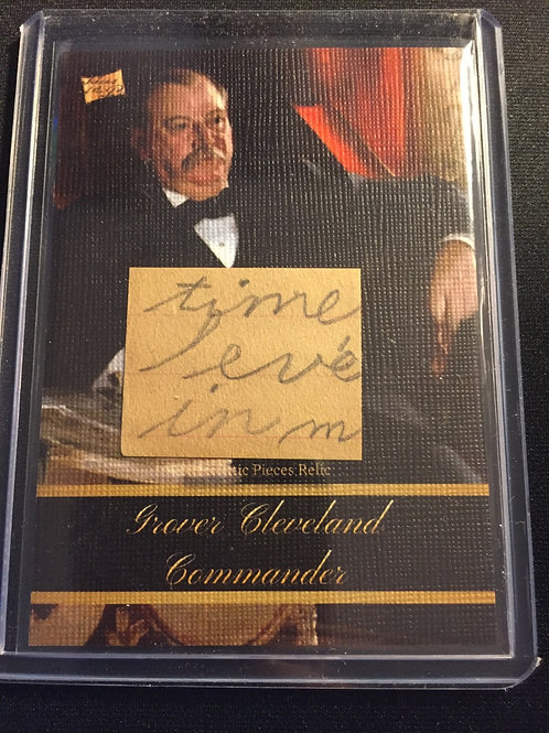 Gover Cleveland #34 Authentic Pieces Relic card