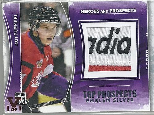 Matt Puempel (1/1) 2011-12 ITG Top Prospects Emblems Silver #TPM16