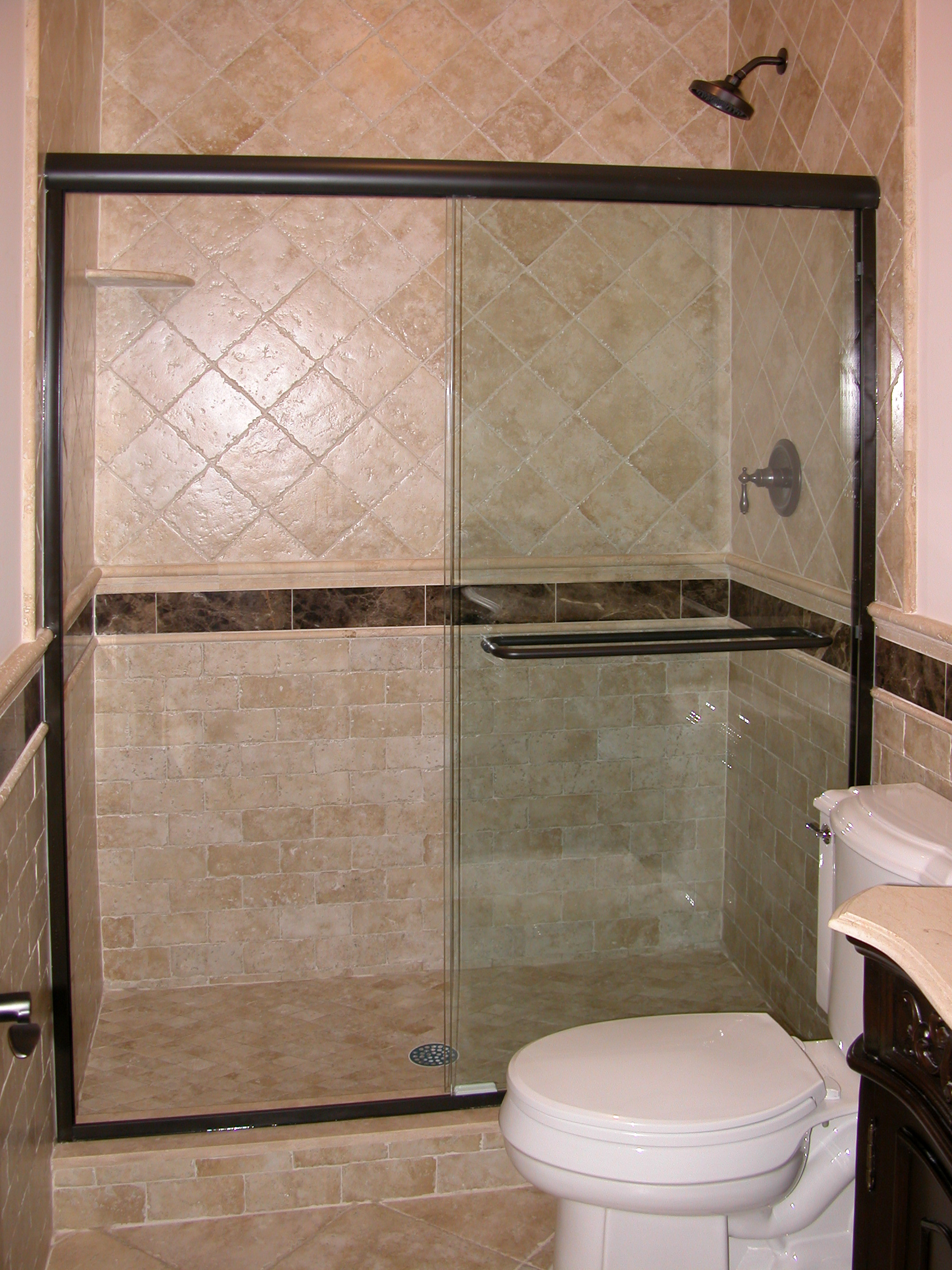 11 - Sliding shower door