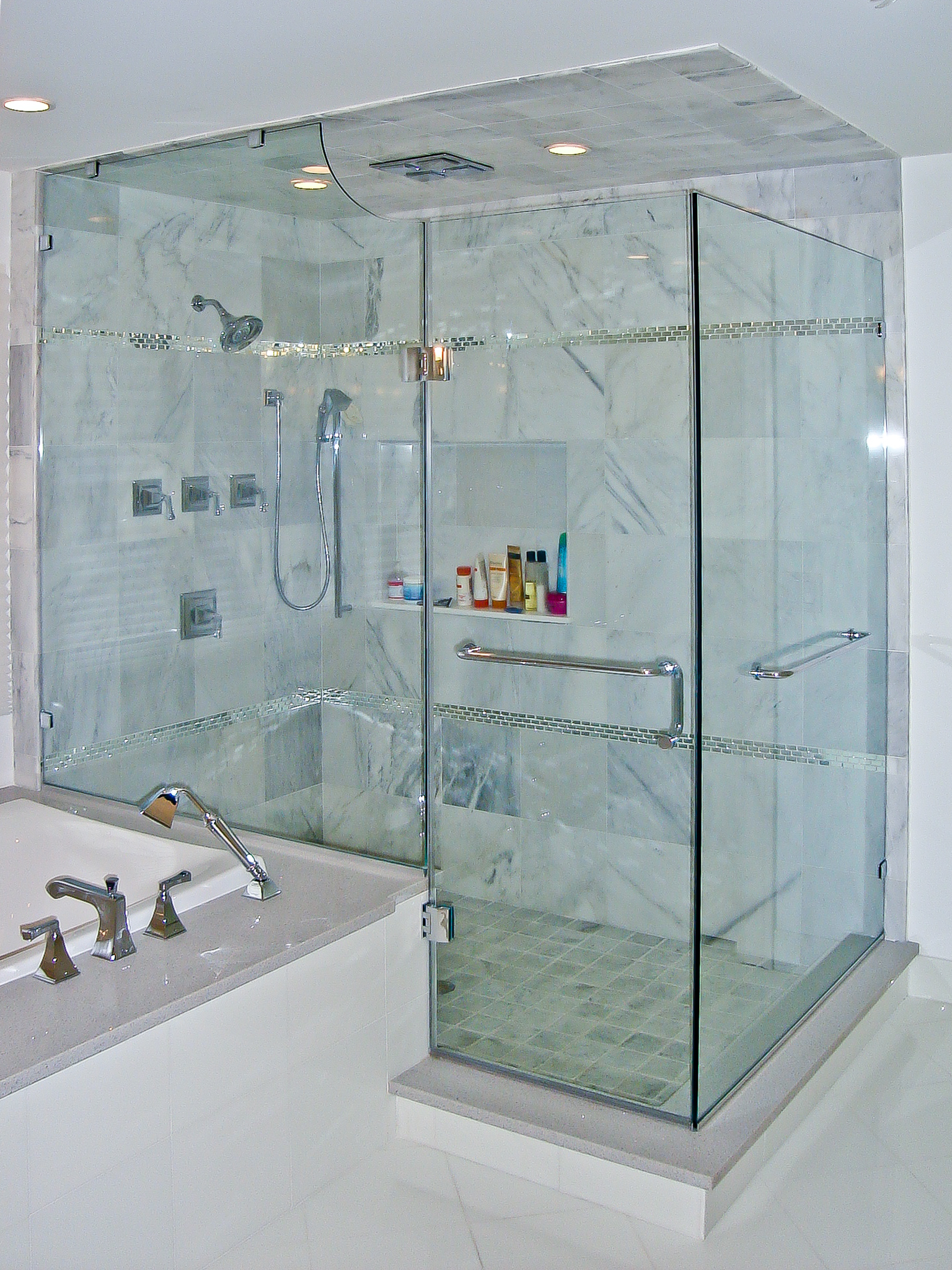 2 - Frameless shower door