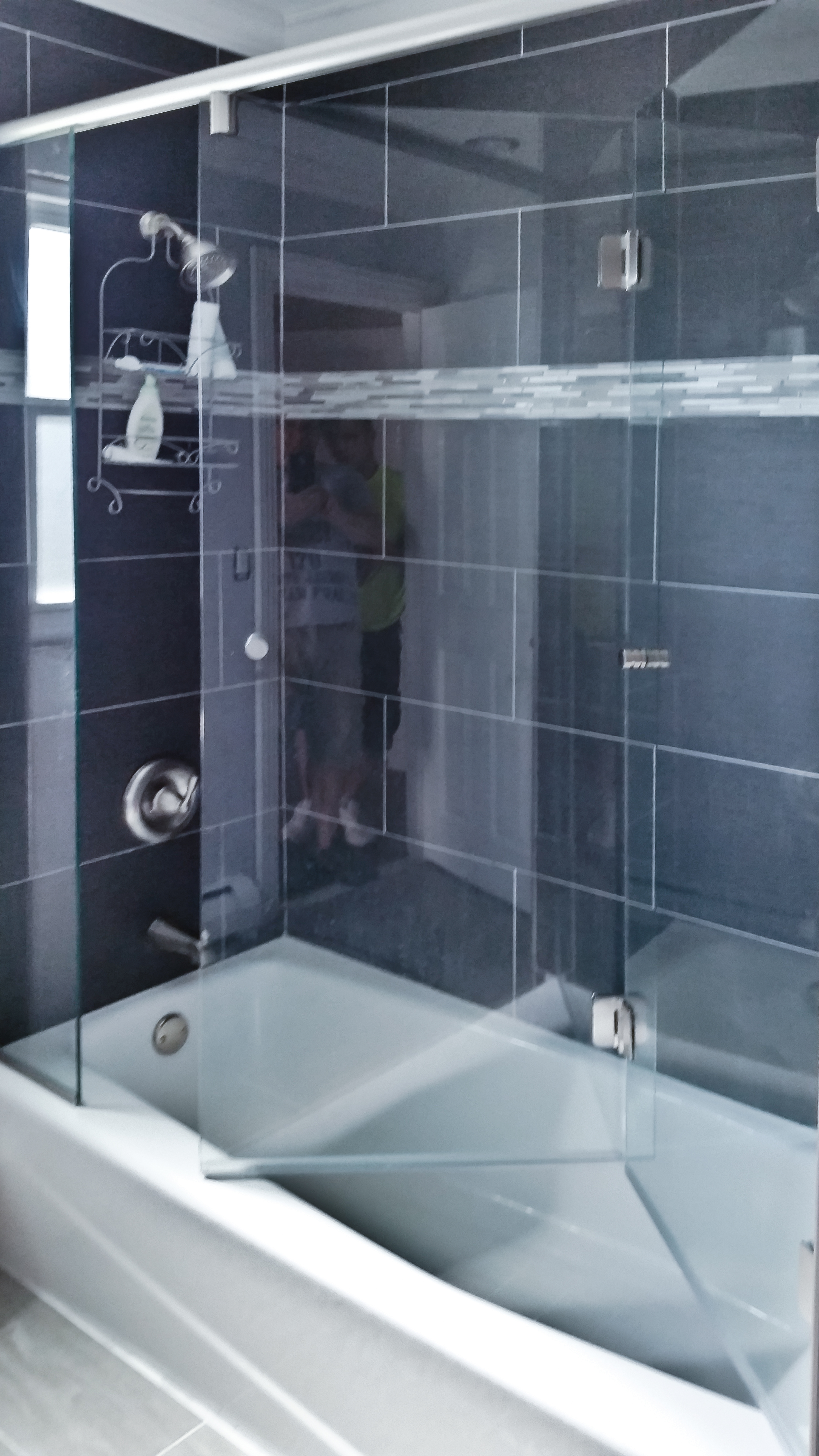 5 - Bifold frameless shower door