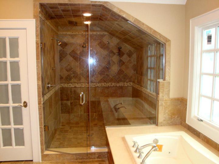 8 - Frameless shower door