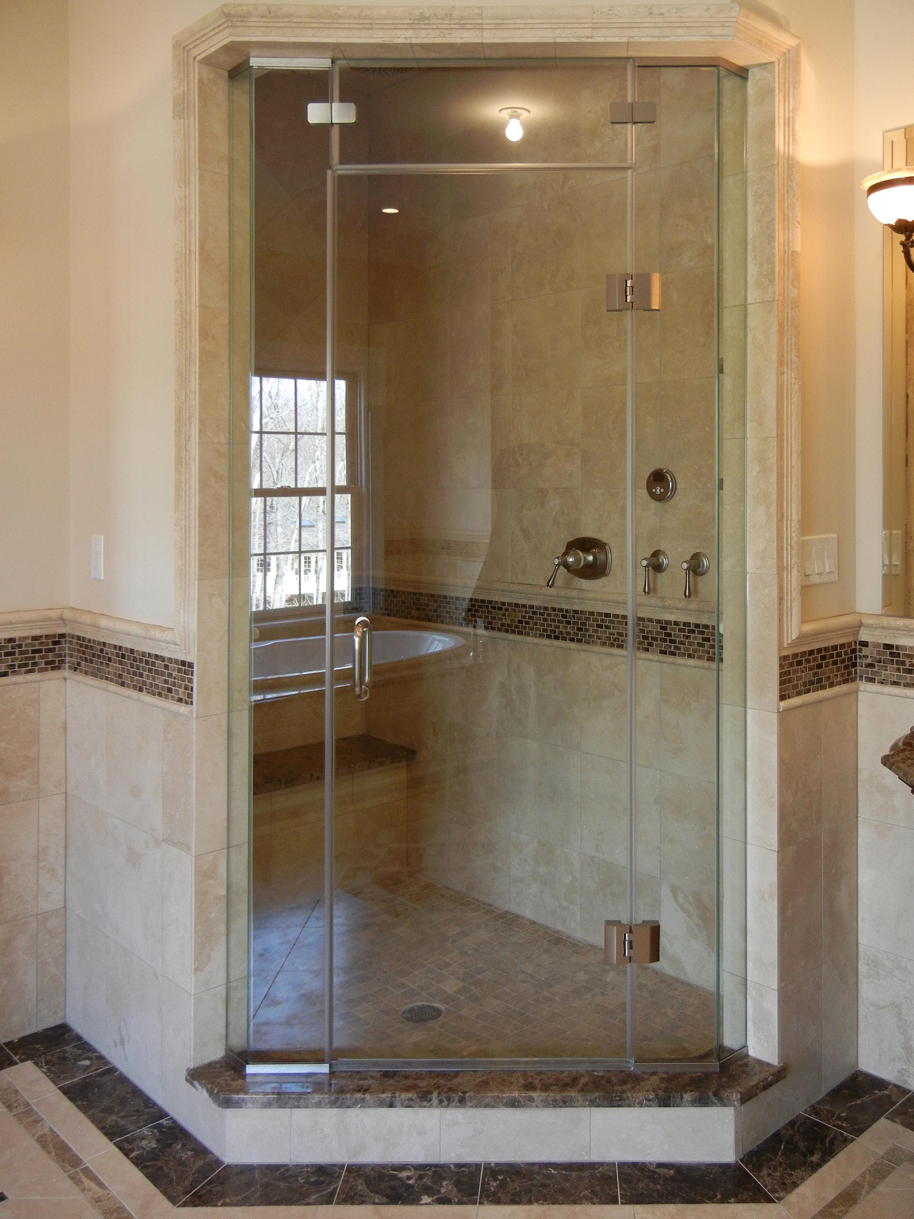 7 - Steam frameless shower door