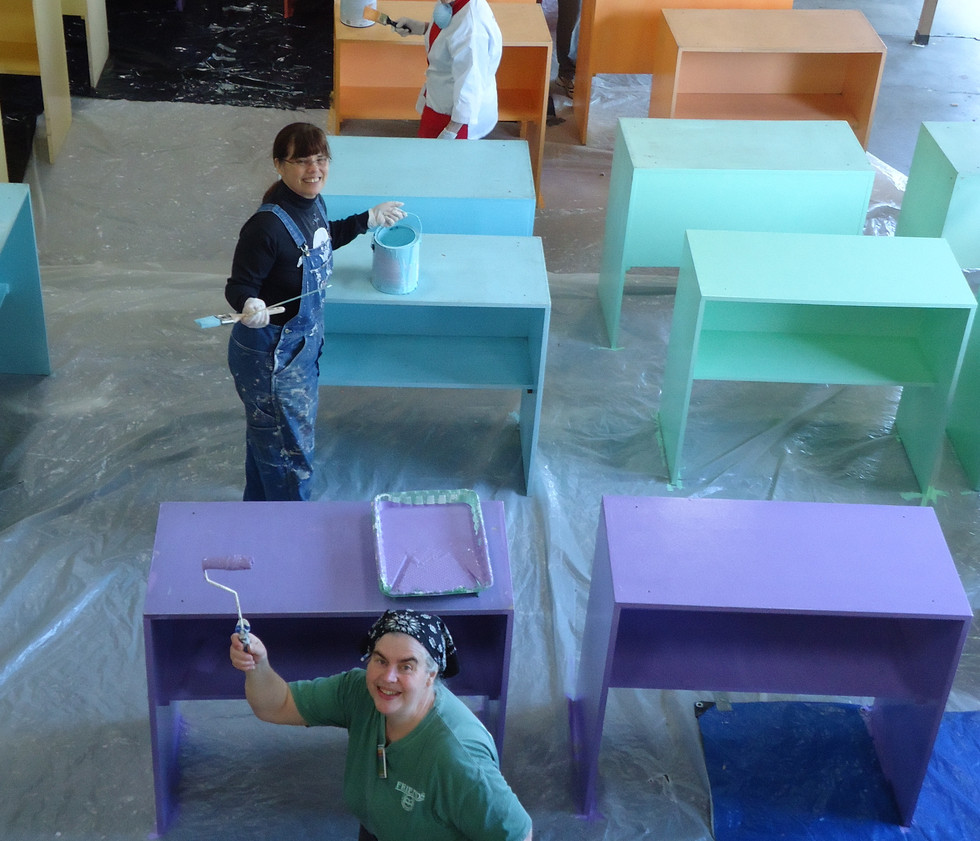 Painting tables