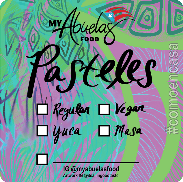 Pasteles Label for My Abuelas
