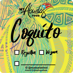 Coquito Label for My Abuelas