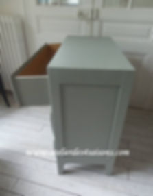 Commode vintage vert de gris perle  Atel
