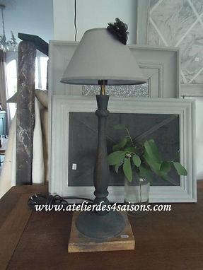 Lampe gris ardoise  Atelier des 4 saison