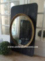 Miroir noir charbon et or Atelier des 4