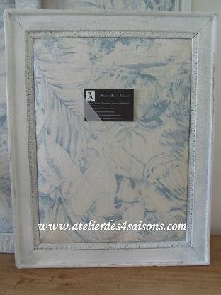 Pèle-mêle imprimé bleu Atelier des 4 sai